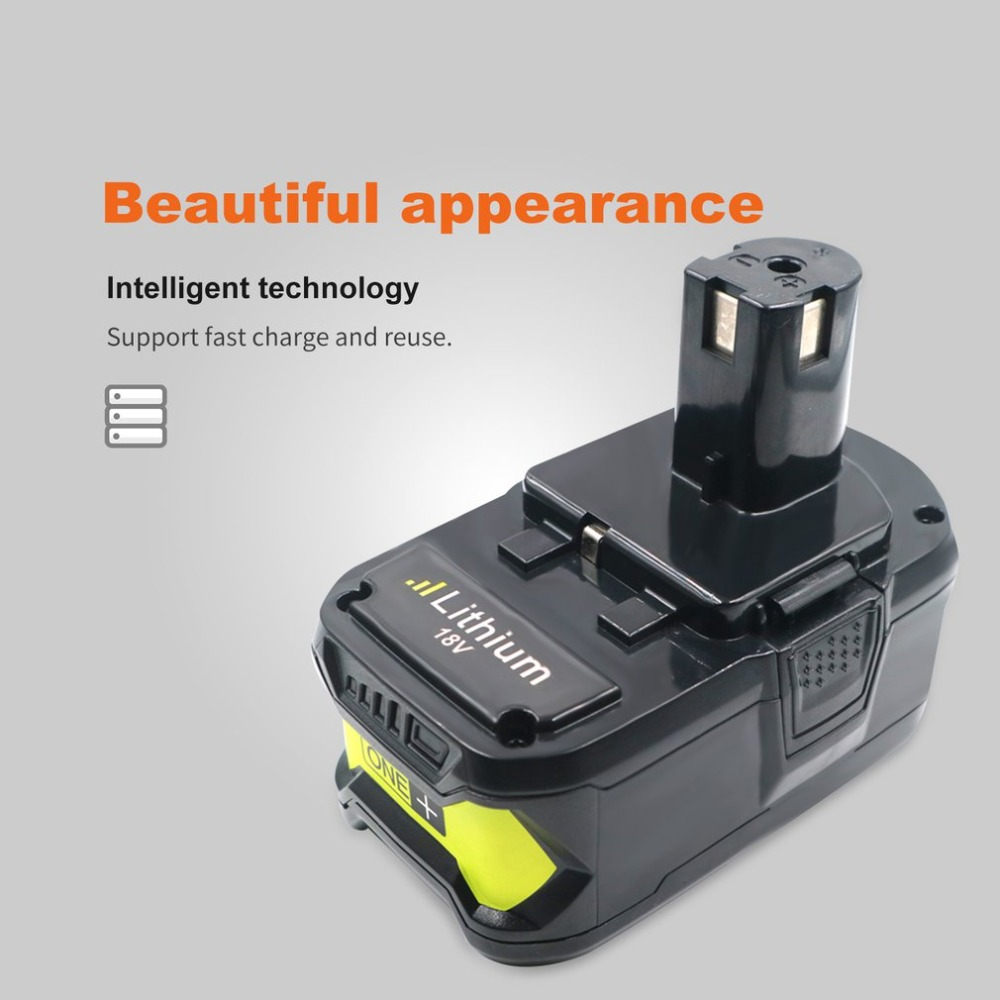 18V 4000mAh Li-ion Cell Rechargeable Power Tool Battery For RYOBI P108 RB18L40 High Capacity Lasting Power Stable Discharge
