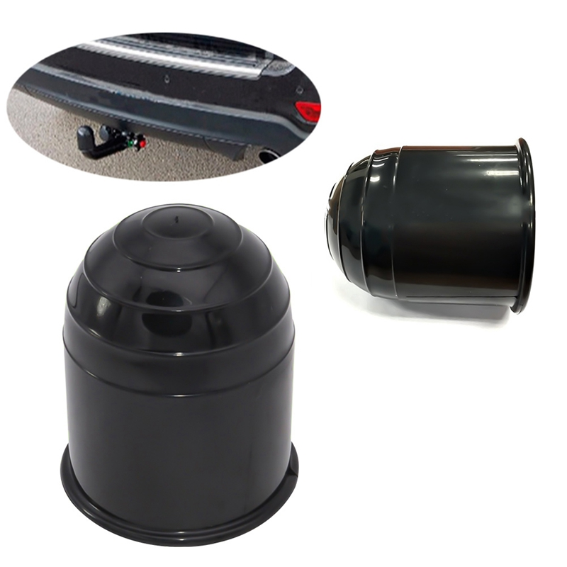 Universal 50MM Auto Tow Bar Ball Cover Cap Hitch Caravan Trailer Towball Protect title=