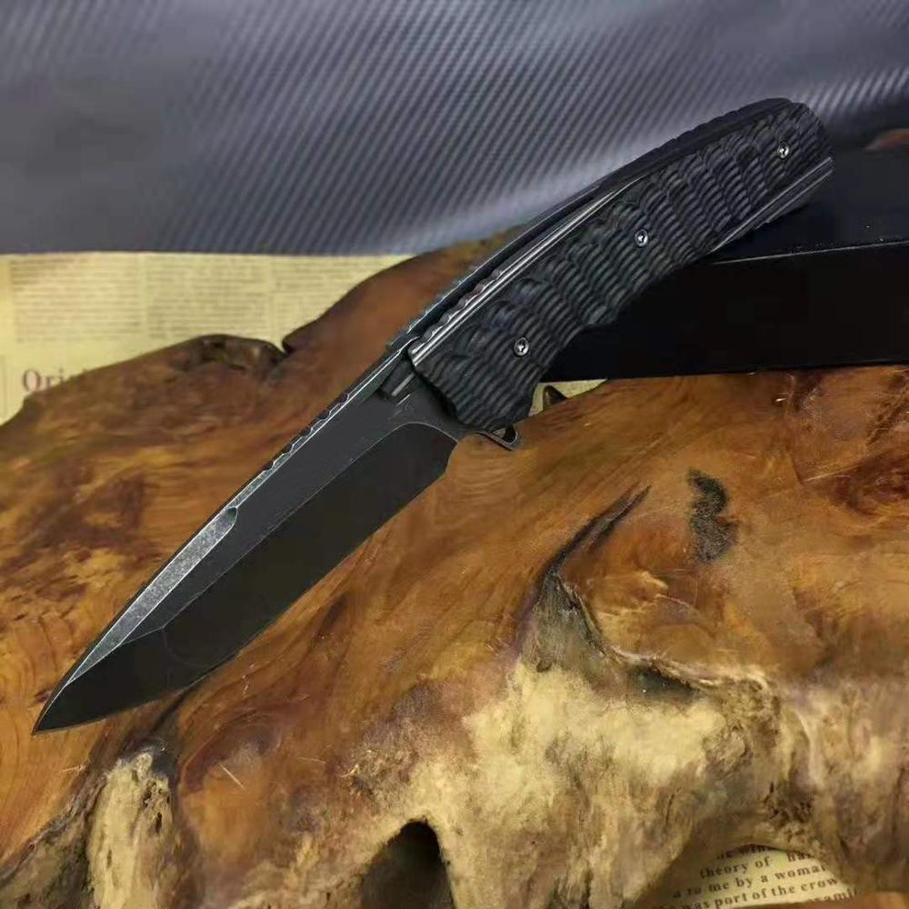 60HRC S35VN Folding Blade Knife Handle Pythons Tool Camping Are Russian  Survival Outdoor Knife Pocket Tactical G10 Han