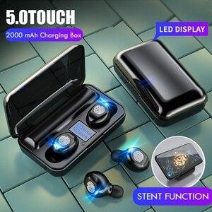 Image 2 - Sports Bluetooth Earphones 5.0 Wireless Earphones Headphones Running Headset TWS Sport Earhook Headset IPX6 Waterproof Earbuds