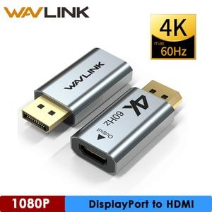 Vrouw Naar Man Kabel Dp Naar Hdmi Max 4K 60Hz Displayport Adapter Dp Naar Hdmi Converter Ondersteuning Audio video Voor Pc Laptop Projector