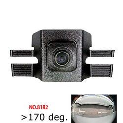 Colose 180deg fisheye CCD HD widok z przodu samochodu Logo kamera dla Toyota highlander 2015 2018 przedni grill kamera wodoodporna w Kamery pojazdowe od Samochody i motocykle na