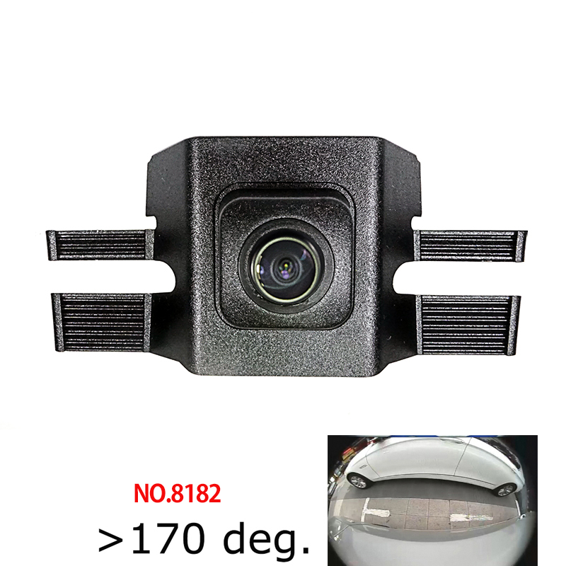 colose 180deg fisheye CCD HD Car Front View Logo Camera for Toyota highlander 2015 2018 front grille camera waterproof|Vehicle Camera| |  - title=