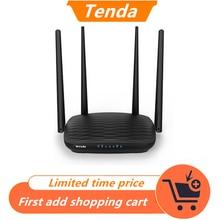 راوتر Tenda AC5 AC1200 هوائيات 5dBi واي فاي مكرر تردد 2.4Ghz 5GHz موجهات ثنائية النطاق تطبيق تحكم واي فاي مع واجهة إنجليزية