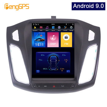 4G 64G PX6 Android 9.0 Car Radio Tesla Vertical Screen for Ford Focus 2013-2017 Audio Player In-dash Carplay GPS Navigation