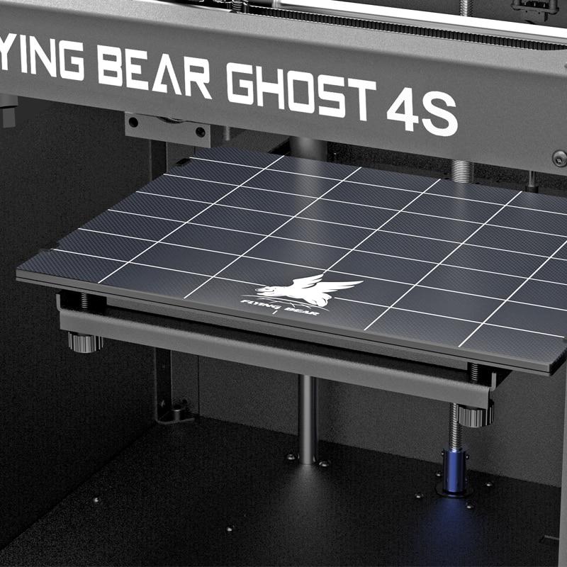 Nouvelle conception de Flyingbear-Ghost4S cadre entièrement en métal de haute précision bricolage imprimante 3d kit de bricolage plate-forme en verre Wifi - 4