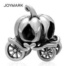 Pumpkin car серебряные бусины 925 пробы подарок на Хэллоуин