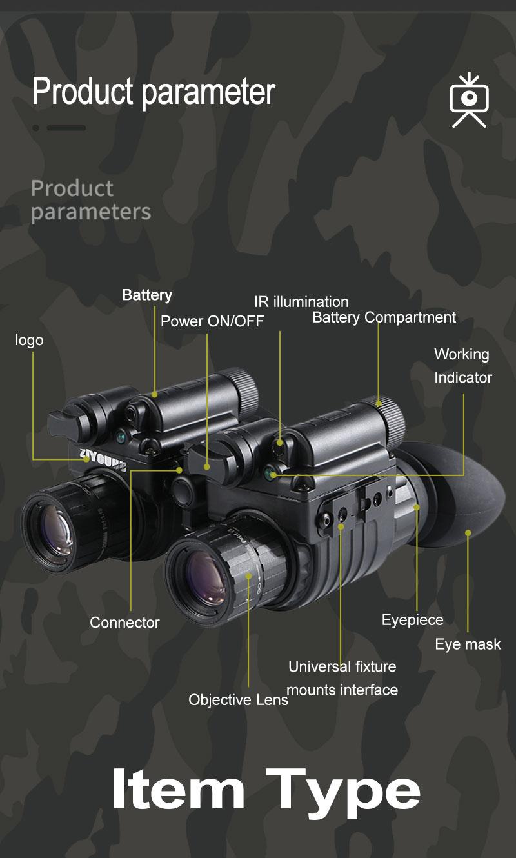 Hbce9a5bb307d4fd7a3e9983a3ac6e578V - แว่นมองภาพกลางคืน กล้องมองภาพในที่มืดติดหัว IR Night Vision แว่นกลางคืน อินฟาเรตจับความร้อน เกรดใช้ในกองทัพทหาร ปฏิบัติการยุทธวิธีกลางคืน  <ul>  <li>แว่นตามองกลางคืนแบบสวมหัว</li>  <li>แว่นอินฟาเรต จับภาพด้วยความร้อน</li>  <li>ผลิตภัณฑ์เกรดกองทัพ</li>  <li>สามารถแยกส่วนเป็น 2ชิ้น ซ้าย-ขวา</li>  <li>มีฟังชั่นการซูมแบบกล้องส่องทางไกล</li>  <li>ของแท้ การรับประกัน 1ปี โดยผู้ผลิตในต่างประเทศ</li> </ul>