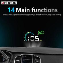 цена на OBDHUD D3000 hud Display Car Digital Speedometer Head-Up Display Windshield Projector Overspeed RPM Alarm For All Vehicle Cars