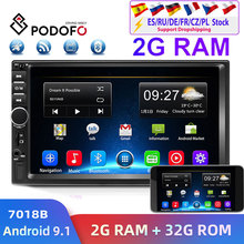 Podofo 2din Car Radio Android GPS Navi Wifi Car Multimedia Player Universal auto Stereo For Volkswagen Nissan Hyundai Kia toyota