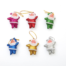 6Pcs/set Christmas Tree Decorations Ornaments Small Old Pendant Mixed 6 Color