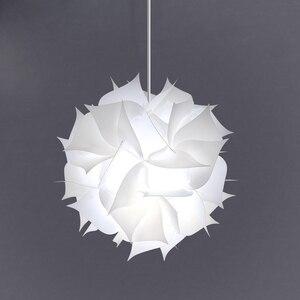 Image 1 - נורדי פרח מודרני DIY אלמנטים IQ פאזל ZE מנורת תקרת נברשת תליון מנורת כדור אור תאורת 30.5cm