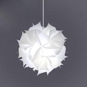Image 1 - Nordic Flower Modern DIY Elements IQ Jigsaw Puzzle ZE Lamp Ceiling Chandelier Pendant Lamp Ball Light Lighting 30.5cm