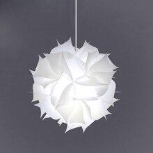 Nordic çiçek Modern DIY elemanları IQ yap boz ZE lamba tavan avize kolye lamba topu ışık aydınlatma 30.5cm