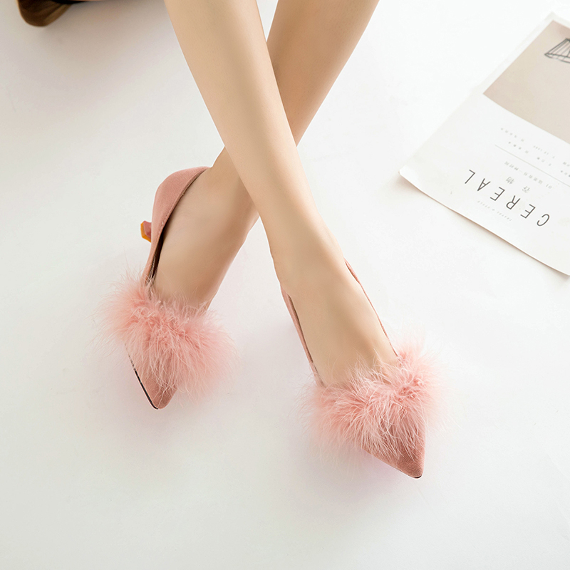 ZHENZHOU shoes Women Pumps high heels autumn 2018 new female scoop shoes small with single shoes female 5cm cat with shoes 22
