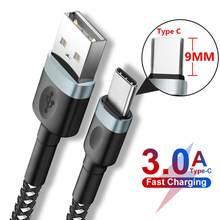 3a carregamento rápido 9mm longo usb tipo c carregador cabo para oukitel k10 k6 blackview p10000 bv9900 bv9600 bv6800 pro bison umidigi
