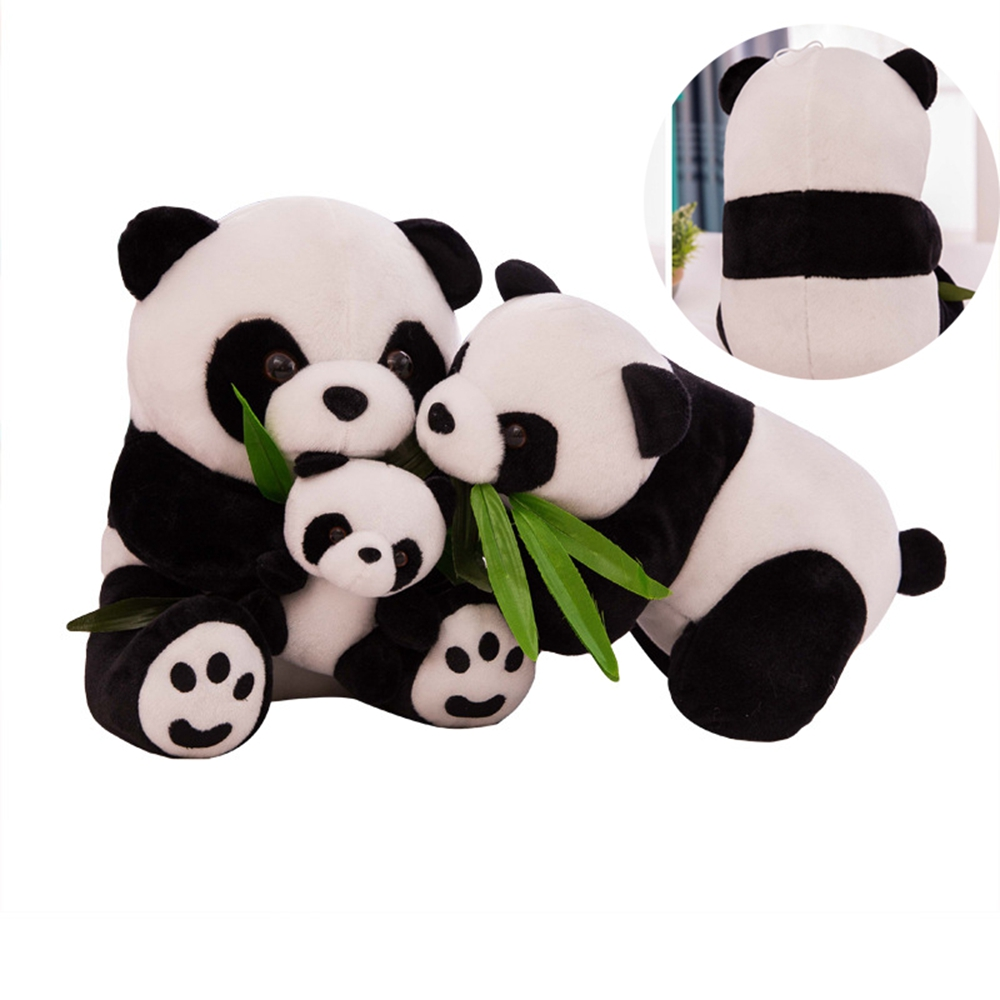 9/10/12/16cm Plush Panda Stuffed Animals Cartoon Pillow Soft Toy Kneeling Sitting For Kids Baby Birthday Christmas Present