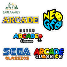 EARLFAMILY 13cm x 6.3cm for Retro Arcade Game Car Decals Custom Printing Motorcycle Scratch-proof Vinyl Window Trunk Stickers
