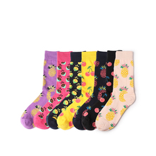 Socks Fruit Series Funny Personality Ladies Tide Fashion England Wind Style Interesting Cotton