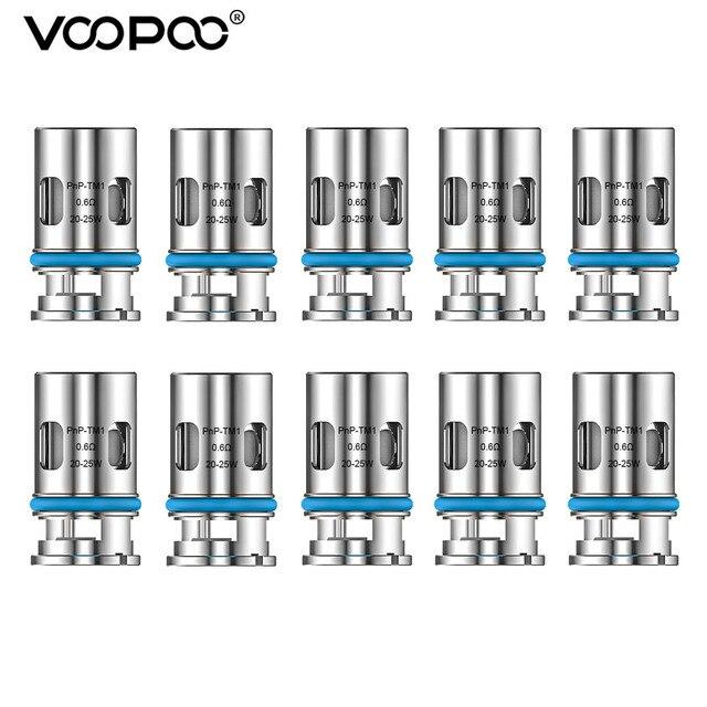 VOOPOO PnP TM1 لفائف 0.6ohm المقاومة نصف DL شبكة لفائف 20 25 واط ل VOOPOO أرجوس الهواء برو X السحب X S ماكس فينشي X 2 جراب السجائر الإلكترونية