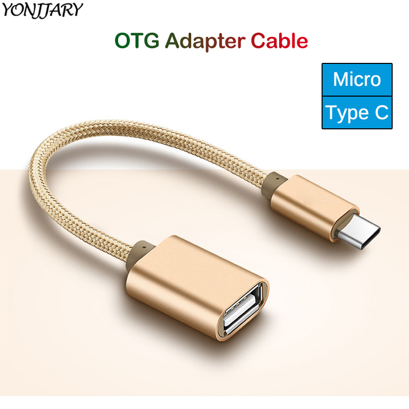 Cable Length Gold Connectors OTG Converter Adapter 1 Pair Micro USB/&Type-C OTG Male to USB 3.0 Female Converter Adapter for Android Phone