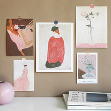 Wall-Sticker Postcard Photo-Props Greeting-Cards Nordic Background Retro Creative Art