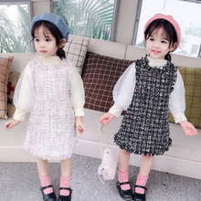 Children Clothing dress set long mesh Sleeve Toddler Girls Clothes  2pcs Outfits spring autumn princess Overall Costume new baby girls dress autumn children clothing long sleeve toddler princess dress outfits clothes