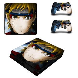 Image 3 - Naruto do Boruto pełna pokrywa płyty czołowe naklejka na kontroler do PS4 naklejka naklejka Vinyl na konsolę Playstation 4 i kontroler naklejka PS4 Slim