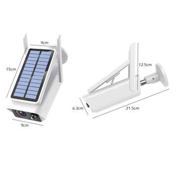1080P Solar Panel Wireless Bullet Security Camera Low Power ICESEE Video Surveillance Motion Detection Wifi CCTV Camera 20M IR