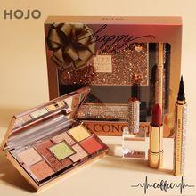 3pcs Makeup Set Noble luxury diamond makeup gift box 9 color Eyeshadow lipstick Eyeliner Long Lasting Waterproof Cosmetic Kit