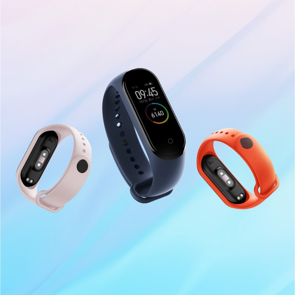 For Mi Band 4 Strap Silicone Wristband Bracelet Replacement for Xiomi Band miband 4 mi band 3 Wrist Strap for Mi band4 band3 b - 副本
