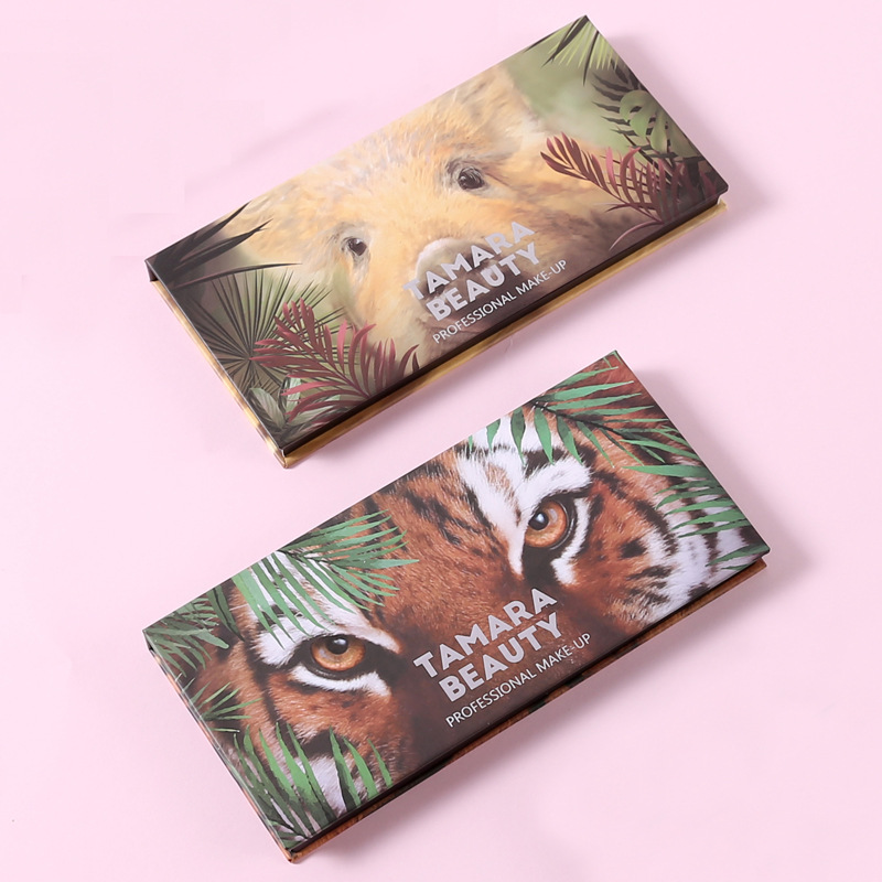 Eyeshadow Pallete 12 Color Colorful Waterproof Concealer Makeup Pallete Lasting-Effect Eye Shadow Animal Pig Tiger Eyeshadow