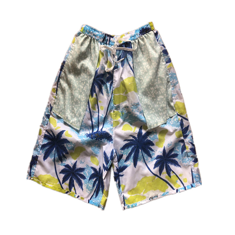 Beach Shorts Beach Casual Loose-Fit Quick-Dry Soft Breathable Short Sports Large Size Peach Skin Booth Goods