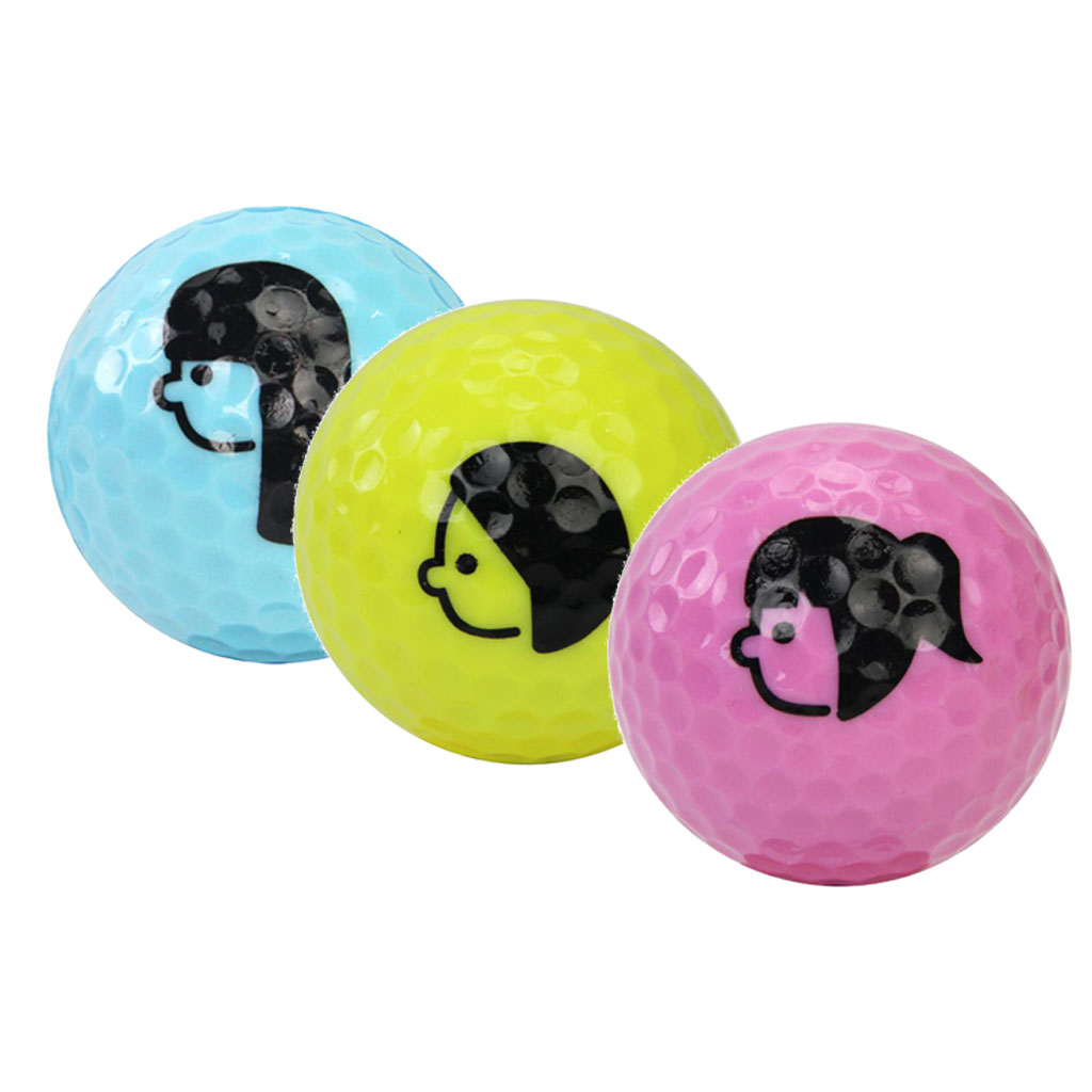 Practice Golf Balls,Double Layer Game Ball Indoor Outdoor Golf Training Aid Balls  - Lightweight & Durable
