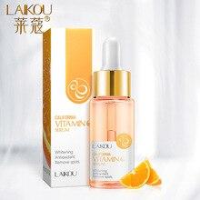 LAIKOU 15ml Vitamin C Facial Serum Orange Essence Pure Hyaluronic Acid Serum Acido Hialuronico Anti-aging Whitening Face Care