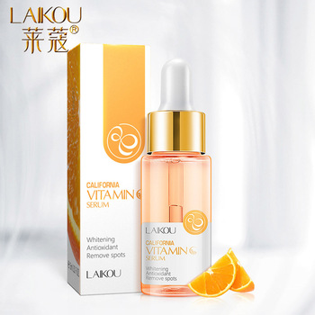 LAIKOU 15ml Vitamin C Facial Serum Orange Essence Pure Hyaluronic Acid Serum Acido Hialuronico Anti-aging Whitening Face Care laikou serum japan sakura essence anti aging hyaluronic acid pure 24k gold whitening vitamin c the ordinary skin care face serum