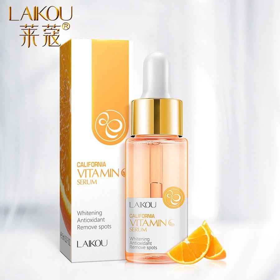 LAIKOU suero Facial con vitamina C, esencia de naranja, suero de ácido hialurónico puro, blanqueador antienvejecimiento, cuidado de la cara, 15ml|Suero| - AliExpress
