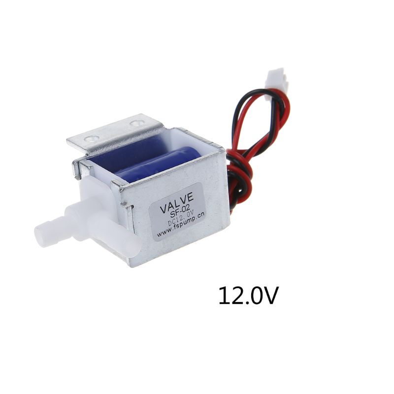 Micro Electric Solenoid Valve N/C Normally Closed 6V 12V 24V Wires Gas Water Air Control 50PB