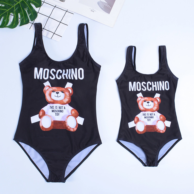 Cartoon Swimsuit Beachwear Print One-Piece Family Children's Summer 3D