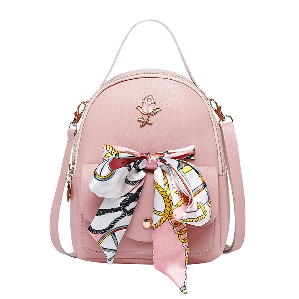 Mini School Backpack For Teenager Girl Kpop Women Bow Casual Travel Small Backpack Female Purse Lady Cosmetic Pouch Phone Pocket