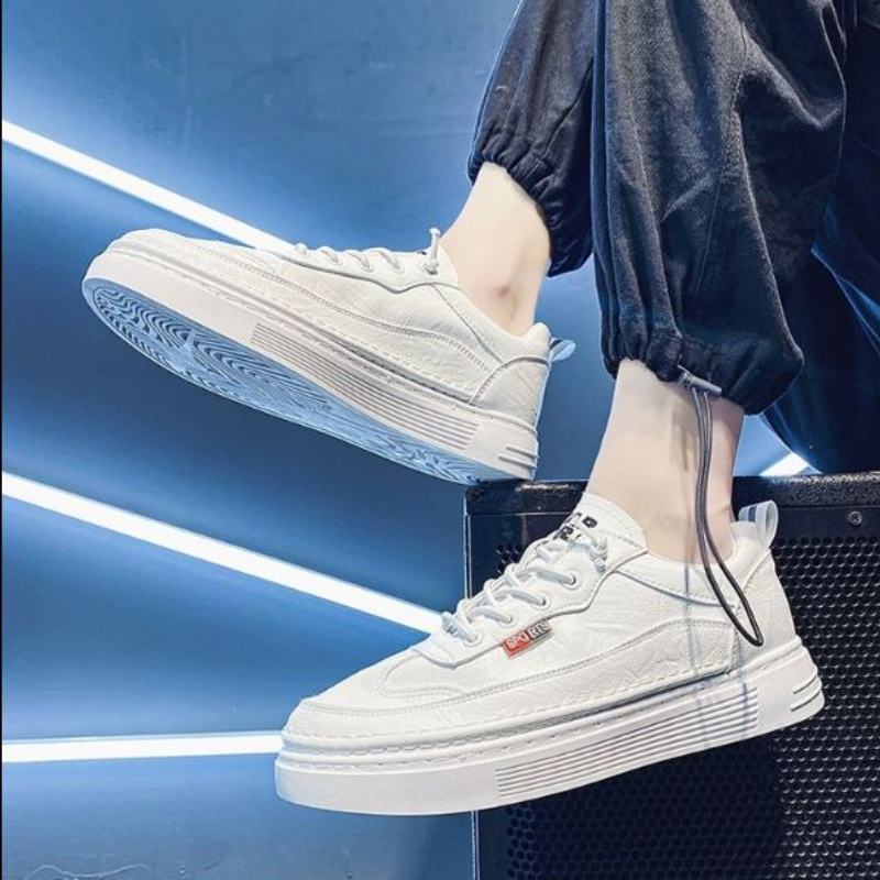 2021 New Summer Leisure Shoes Versatile Thick Sole Trend Men's Small White Shoes Fashion Flat Bottom Wear Resistant  4kd112