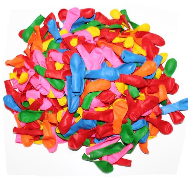 100 unidades/pacote bolas de bomba jogo tiro látex pequeno balão água verão cor misturada ao ar livre festa aniversário do casamento decoração suprimentos