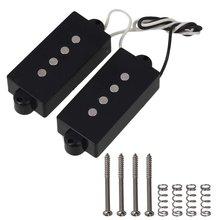 Черный 4 струнный звукосниматель басов для струнной басовой