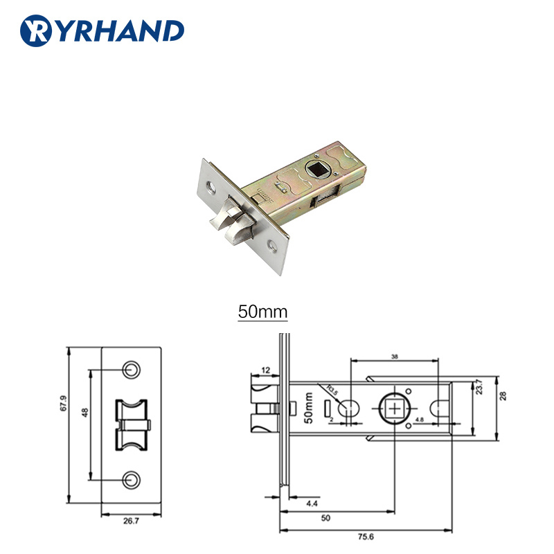50MM 60MM 70MM LENGTH SINGLE LATCH LOCKBODY FOR PASSAGE LOCK