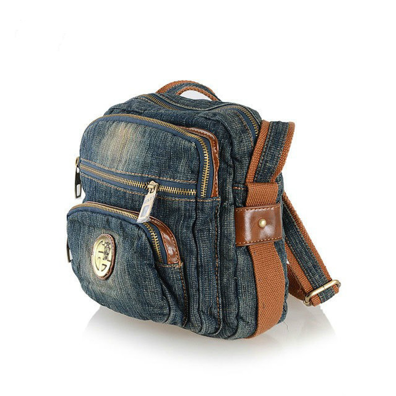 Denim Bag Fashion Wild Female Bag Shoulder Messenger Bag Female Small Bag Denim Bag