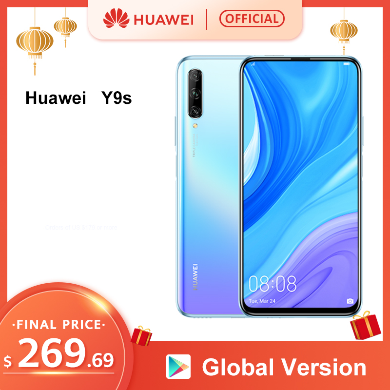 "In Stock Premiere Global Version Huawei Y9s 6GB 128GB Smartphone 48MP AI Triple Cameras Auto-Pop Up Front Camera 6.59"" Cellphone"