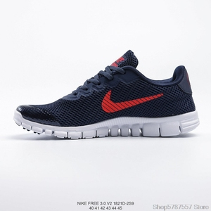 Original Nike Free 3.0 V2 Nike pieds nus 3.0 hommes maille sport chaussures de course taille 40-45