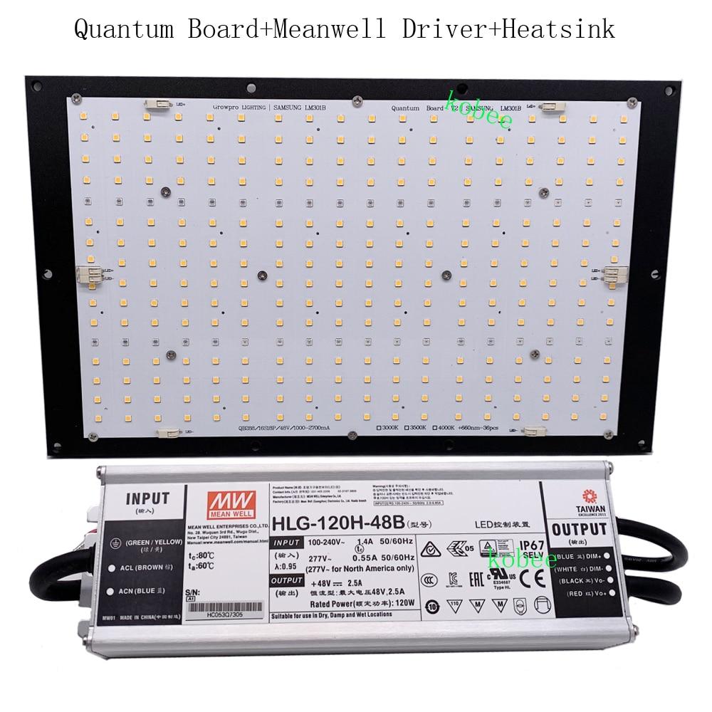 Led-Lamp-Board Grow-Light Quantum QB288 LM301B 3000K Samsung 660nm Heat-Sink IR UV