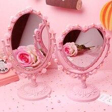 Милый розовый девочка сердце лопнуло, Косметическое зеркало рабочего стола любовь принцессы макияж образный DIY ручной выделка