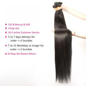 32 34, 36, 38, 40 дюймов бразильские прямые волосы пряди 100% натуральных человеческих волос hoho волос 1 3 4 пряди двойной утки толстые Волосы Remy